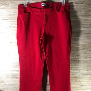 Old Navy Red Pixie Pants